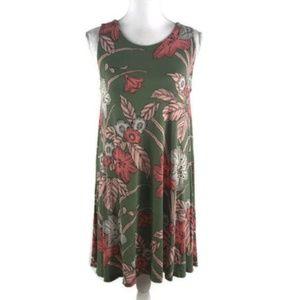 Loft Outlet Asymmetric Knit Dress Floral